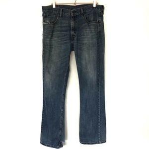 🦋Men's Levis 527 Slim Bootcut Distressed Jeans 36